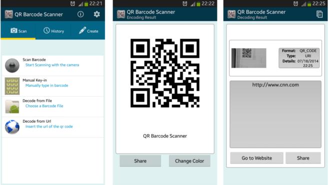 Скриншоты QR Barcode Scanner