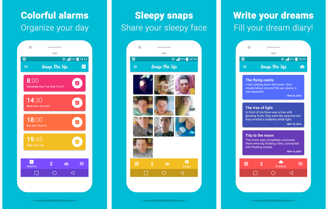Скриншоты Snap Me Up: Selfie Alarm