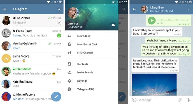 screenshot Telegram