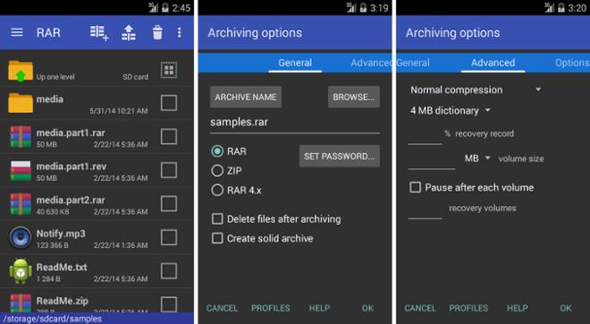 screenshot Rar for Android