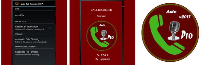 Скриншоты программы Call Recorder