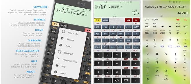 screenshot HiPER Calc Pro