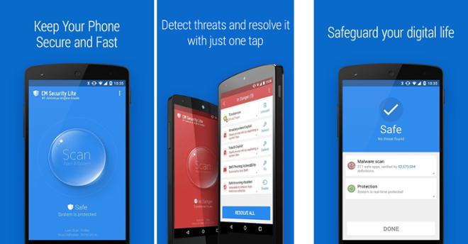 screenshot CM Security