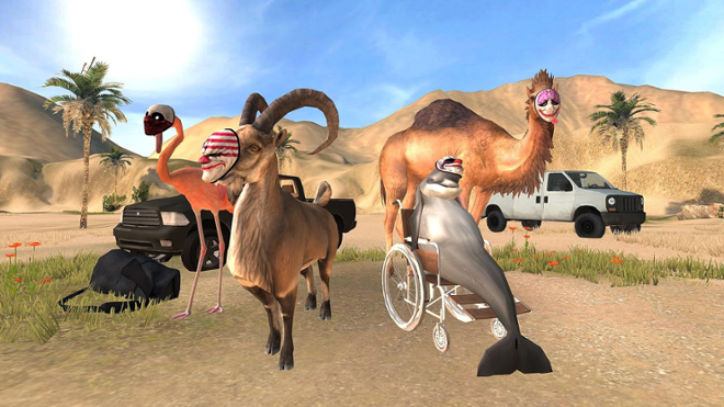 screenshot Goat simulator payday