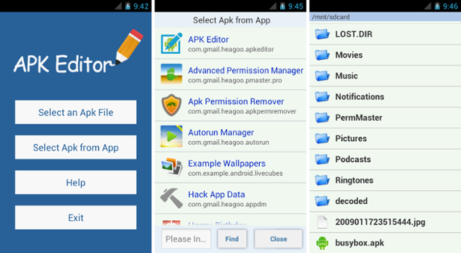 screenshot apk editor