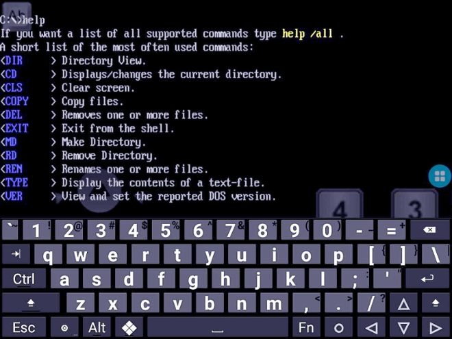 screenshot dosbox android