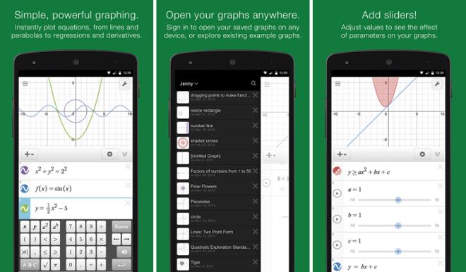 screenshot Десмос График Калькулятор