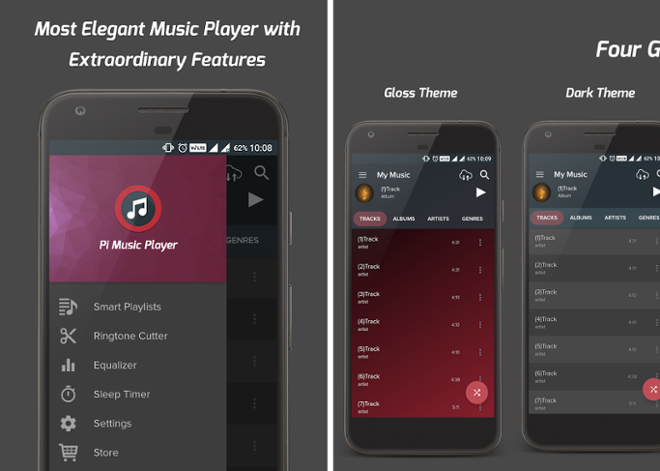 screenshot Pi Music Player