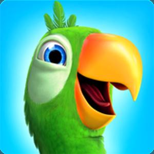 Иконка Скачайте веселую игру про попугая Говорящий Пье...