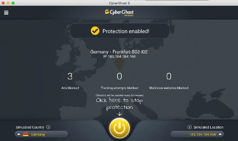 scr CyberGhost VPN