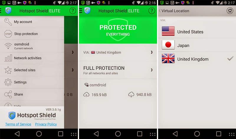 scr HotSpot Shield VPN