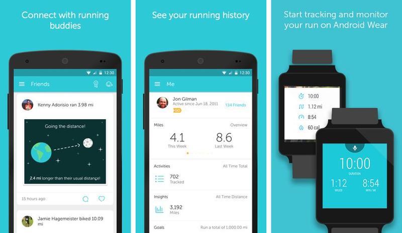 Иллюстрация на тему Программа для беговых тренировок RunKeeper, скачать на Андроид