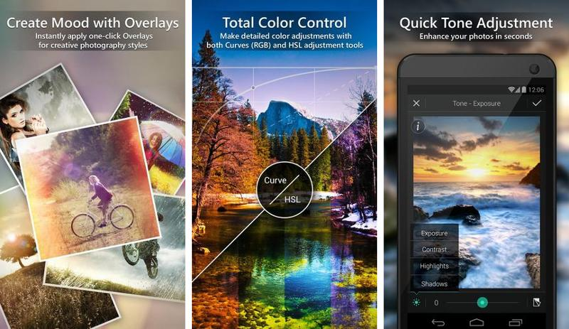 Иллюстрация на тему Программа для ретуши фотографий PhotoDirector, скачать на Андроид