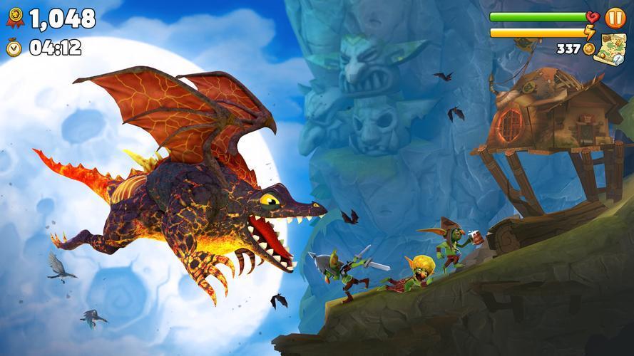 Иллюстрация на тему Скачать Hungry Dragon на Андроид: прохождение игры