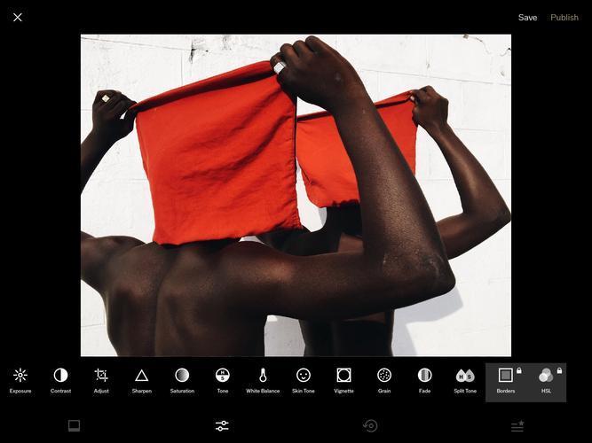 Иллюстрация на тему Приложение для обработки фотографий VSCO, скачать на Андроид бесплатно