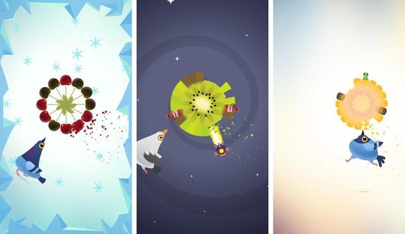 Иллюстрация на тему Pigeon Pop скачать игру на Андроид бесплатно: накормите голубя