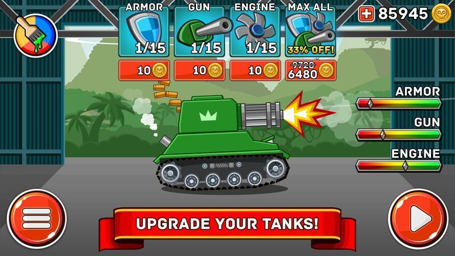 Иллюстрация на тему Hills of Steel скачать игру бесплатно на телефон Андроид