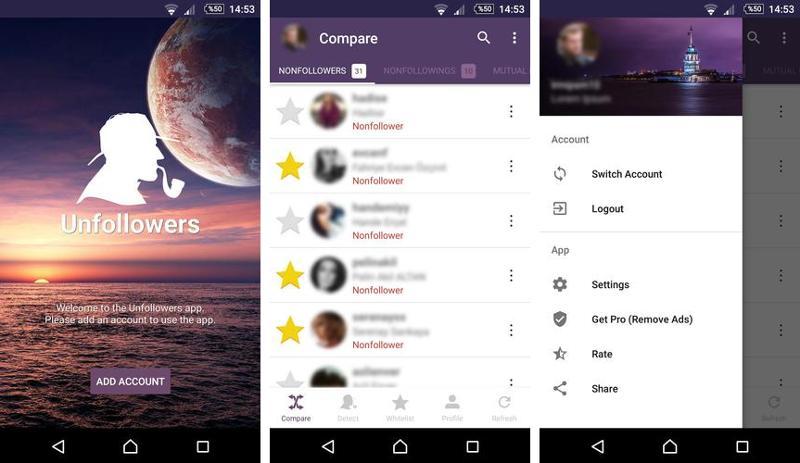Иллюстрация на тему Unfollowers: управление подписчиками в Инстаграм, скачать для Андроид