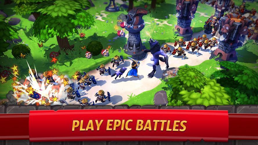 Иллюстрация на тему Royal Revolt 2: цитадель альянса скачать игру на Андроид бесплатно