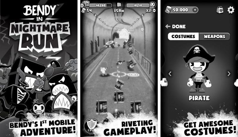 Иллюстрация на тему Bendy in Nightmare Run скачать игру на Андроид бесплатно