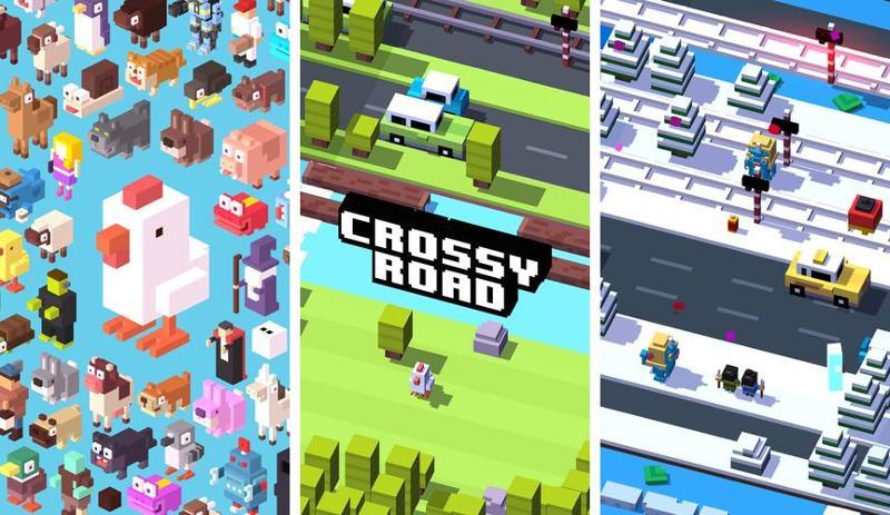 Иллюстрация на тему Crossy Road скачать игру на Андроид бесплатно apk