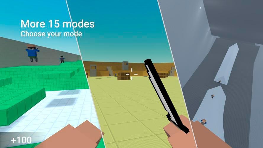 Иллюстрация на тему Скачать Блок Страйк на Андроид, читы для игры Block Strike