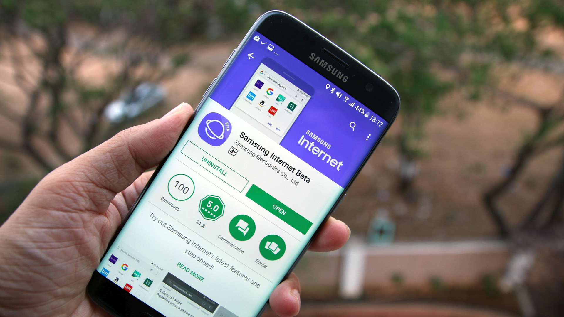 Samsung Internet Browser в Play Маркете