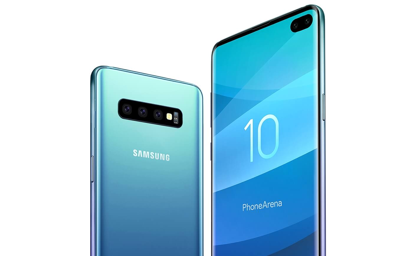 Иконка Рендеры двух расцветок Samsung Galaxy S10, недо...