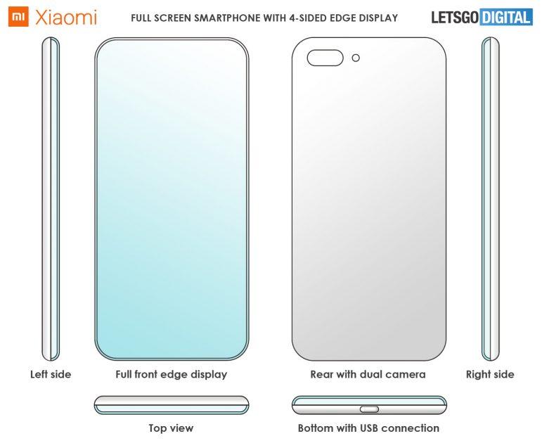 схема патента xiaomi на баскнопочный смартфон