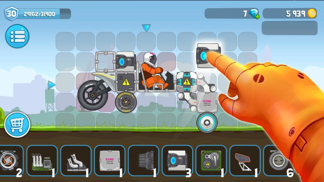 Иллюстрация на тему Ровер Крафт скачать игру на Андроид: построй луноход