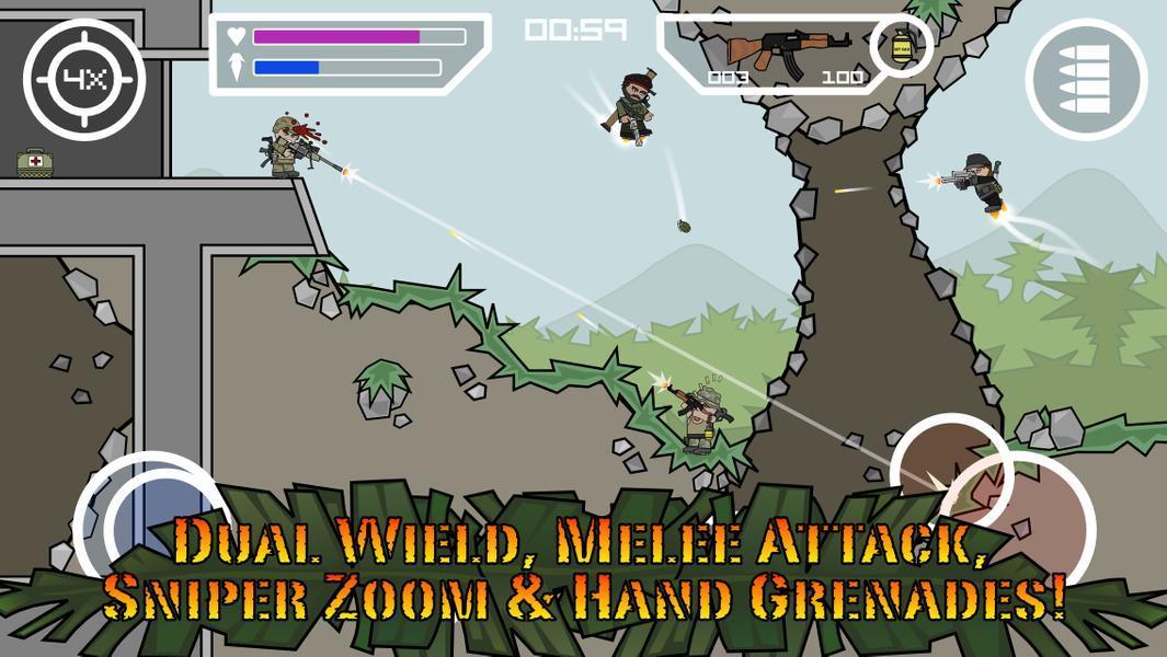 Иллюстрация на тему Mini Militia: скачать полную версию игры на Андроид