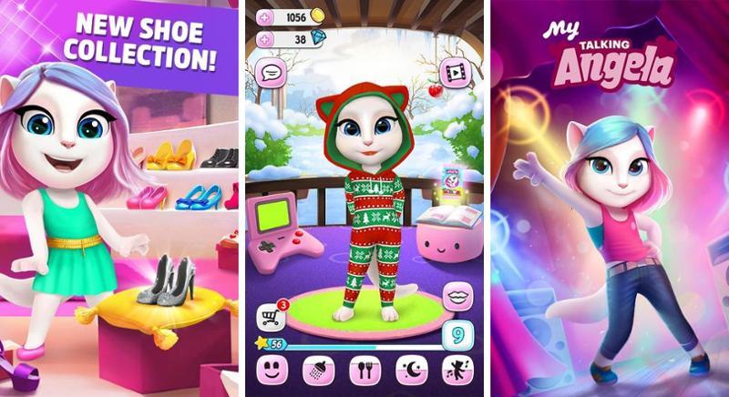 Иллюстрация на тему Моя говорящая Анжела: скачать игру на телефон Андроид