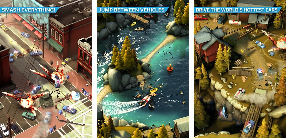 Иллюстрация на тему Smash Bandits Racing: скачать игру на телефон Андроид