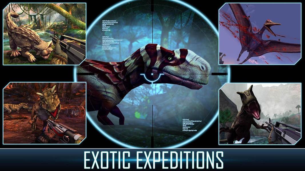 Иллюстрация на тему Дино Хантер: охотник на динозавров - скачать игру на Андроид