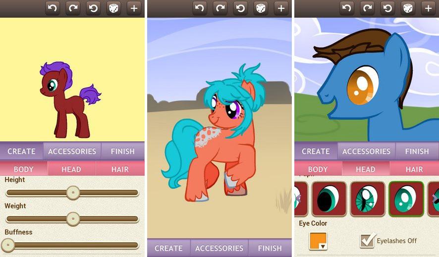 Иллюстрация на тему Скачать Pony Creator v3 бесплатно на телефон Андроид