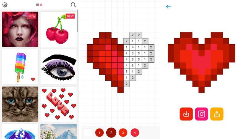 Иллюстрация на тему Cкачать Cандбокс на Андроид: расскраски по номерам