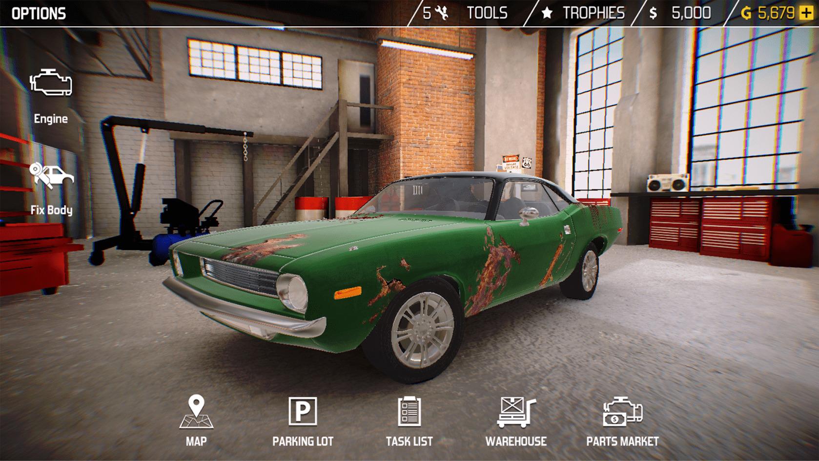 Иллюстрация на тему Скачать Car Mechanic Simulator 2018 на Андроид на русском языке