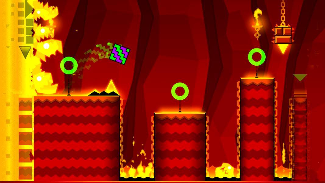 Иллюстрация на тему Geometry Dash Meltdown: скачать полную версию игры на Андроид