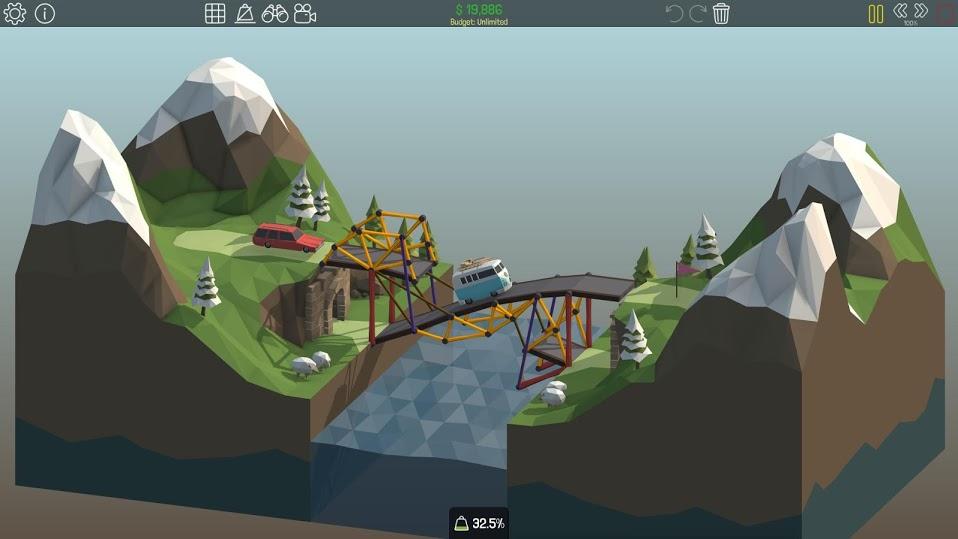 Иллюстрация на тему Poly Bridge: скачать на Андроид полную версию игры
