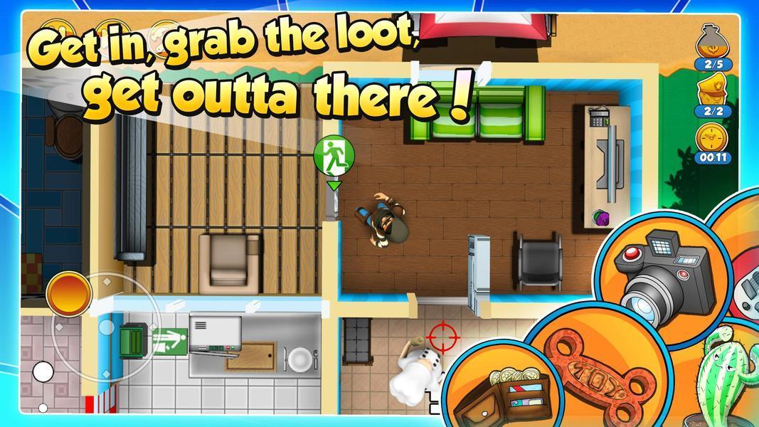 Иллюстрация на тему Скачать Воришка Боб 2 на телефоны Андроид: полная версия игры