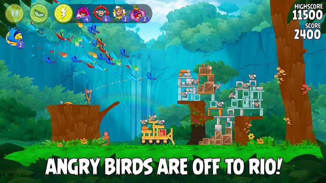 Иллюстрация на тему Angry Birds Rio: скачать полную версию игры на Андроид