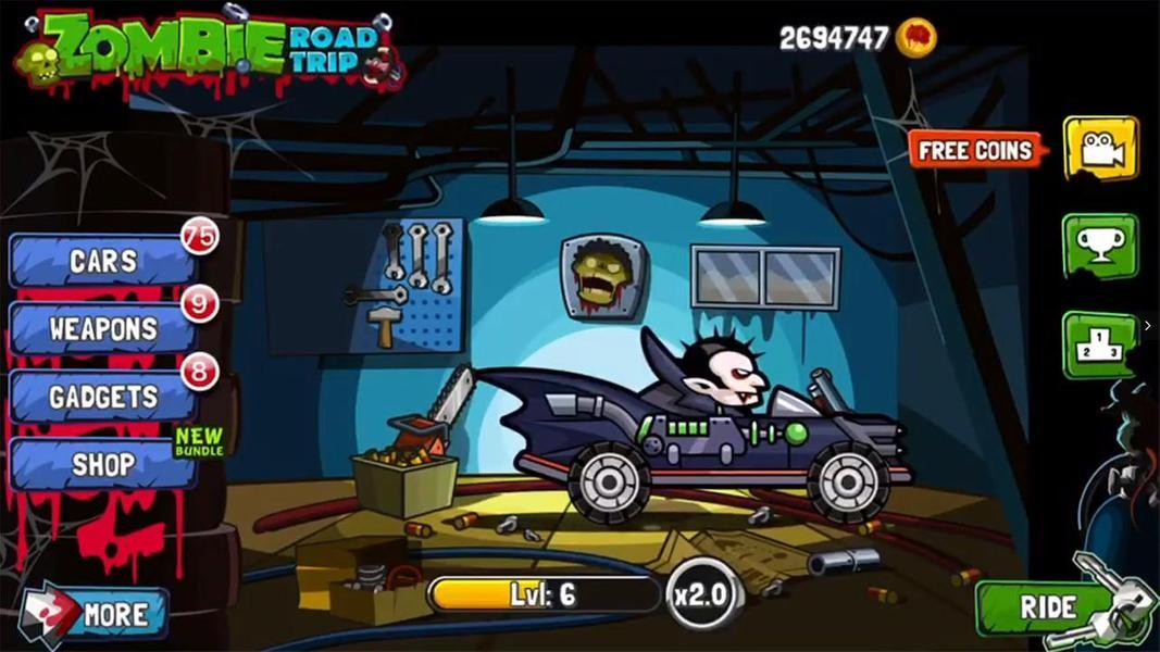 Иллюстрация на тему Zombie Road Trip: скачать полную версию игры на Андроид