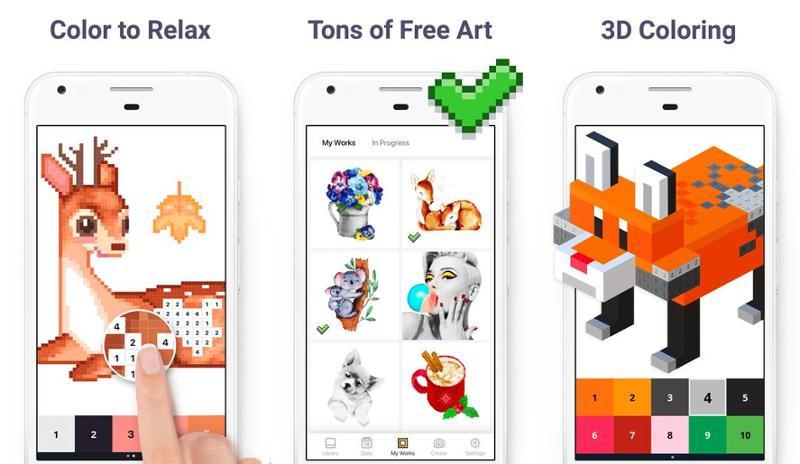 Иллюстрация на тему Скачать Pixel Art: Раскраска по номерам на Андроид на русском языке