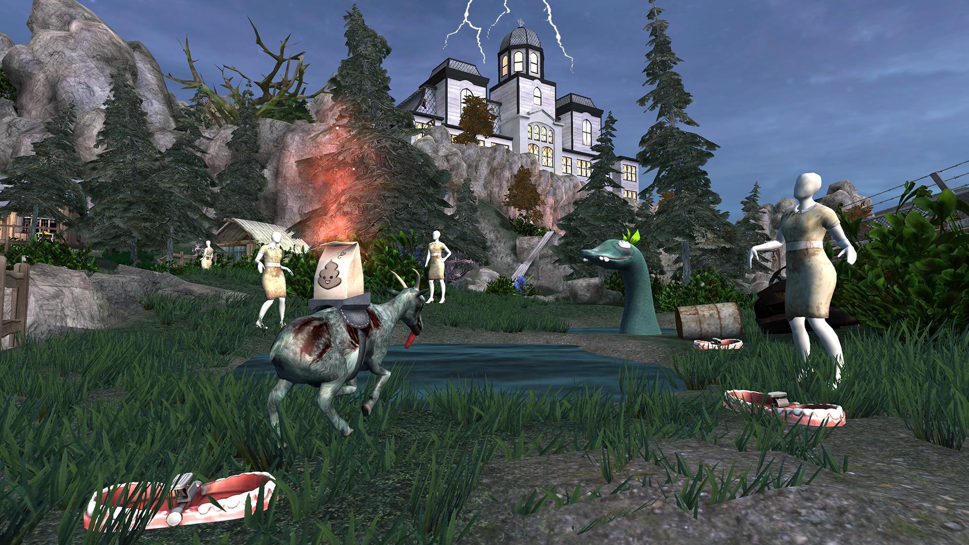Иллюстрация на тему Goat Simulator GoatZ: скачать симулятор зомби-козла на Андроид
