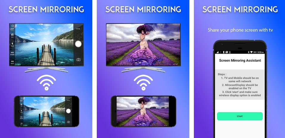 Иллюстрация на тему Screen Mirroring: скачать приложение на телефон Андроид